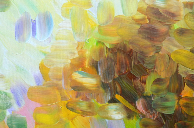 Breath of Autumn, Painting, Acrylic on Canvas - Brown Abstract Painting by Sara Gardner