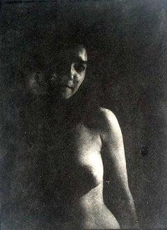 Night nude - XX century, Black and white figurative print