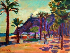 A view - XXI century, Oil landscape painting, Colourful