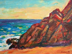Rocks in Spain - XXI century, Oil landscape painting, Colourful