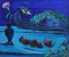 Gardens of Delight I-XXI century Figurative oil painting Animals Bright colours