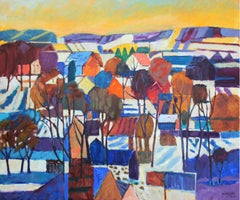 In the sun - XXI century, Oil landscape painting, Colourful