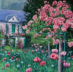 Monet's Roses, Painting, Oil on Canvas