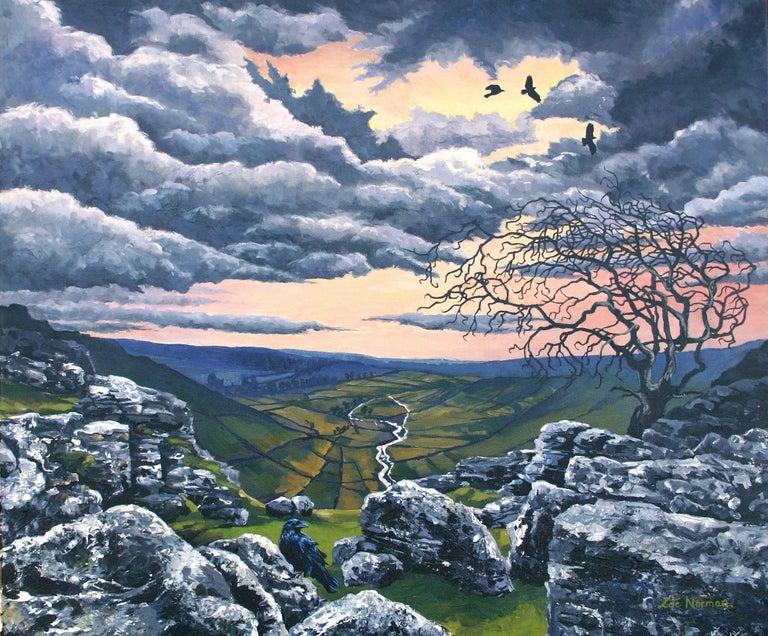 Modern contemporary impressionism.    This painting of Malham Cove, North Yorkshire was inspired by Emily Bronte's literary masterpiece 'Wuthering Heights. Malham Cove is a very well known tourist attraction and would have been well known to the