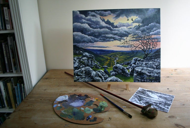 Malham Heights, Painting, Acrylic on Canvas For Sale 1