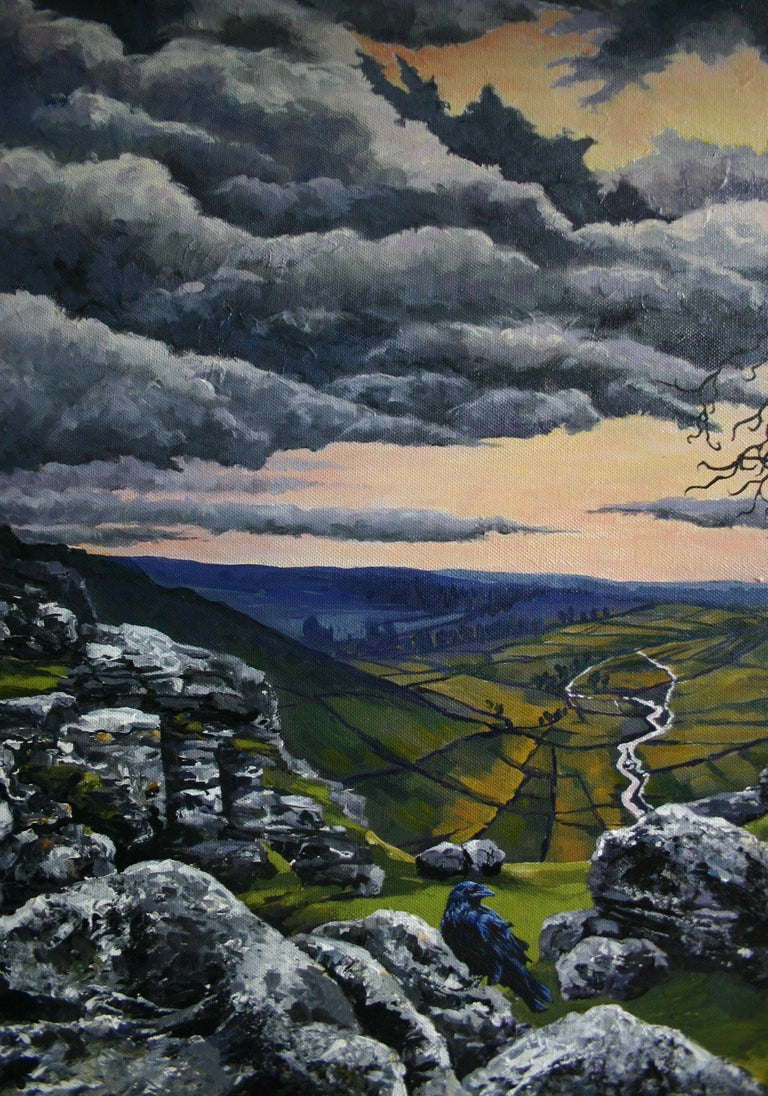Malham Heights, Painting, Acrylic on Canvas For Sale 2