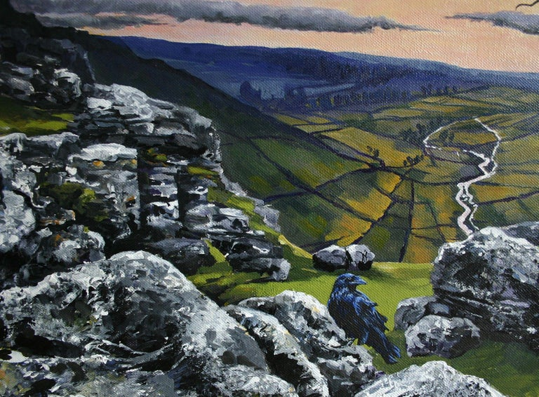 Malham Heights, Painting, Acrylic on Canvas For Sale 3