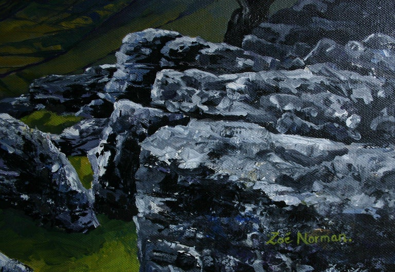 Malham Heights, Painting, Acrylic on Canvas For Sale 4