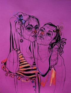 Two Duck-faces, Drawing, Pen & Ink on Paper