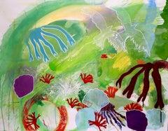 Sea Garden II, Painting, Acrylic on Canvas