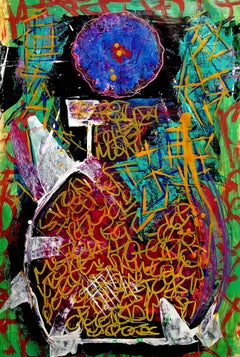 Vase Tú, Painting, Acrylic on Paper