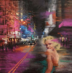 A Long Travel and 42nd Street, Painting, Oil on Canvas