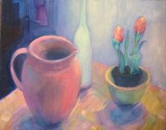 Et Tu Tulips, Painting, Oil on Canvas