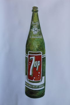 7-up bottle, Painting, Watercolor on Paper