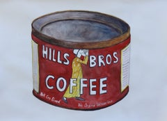 Hills Bros Coffee, Painting, Watercolor on Watercolor Paper