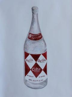 Coke Bottle, Painting, Watercolor on Watercolor Paper