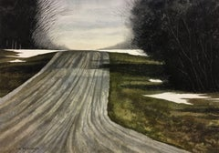 OVER THE HILL, Painting, Watercolor on Watercolor Paper