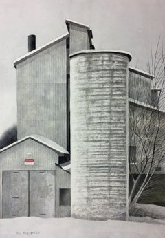 GHOST MILL, Painting, Watercolor on Watercolor Paper