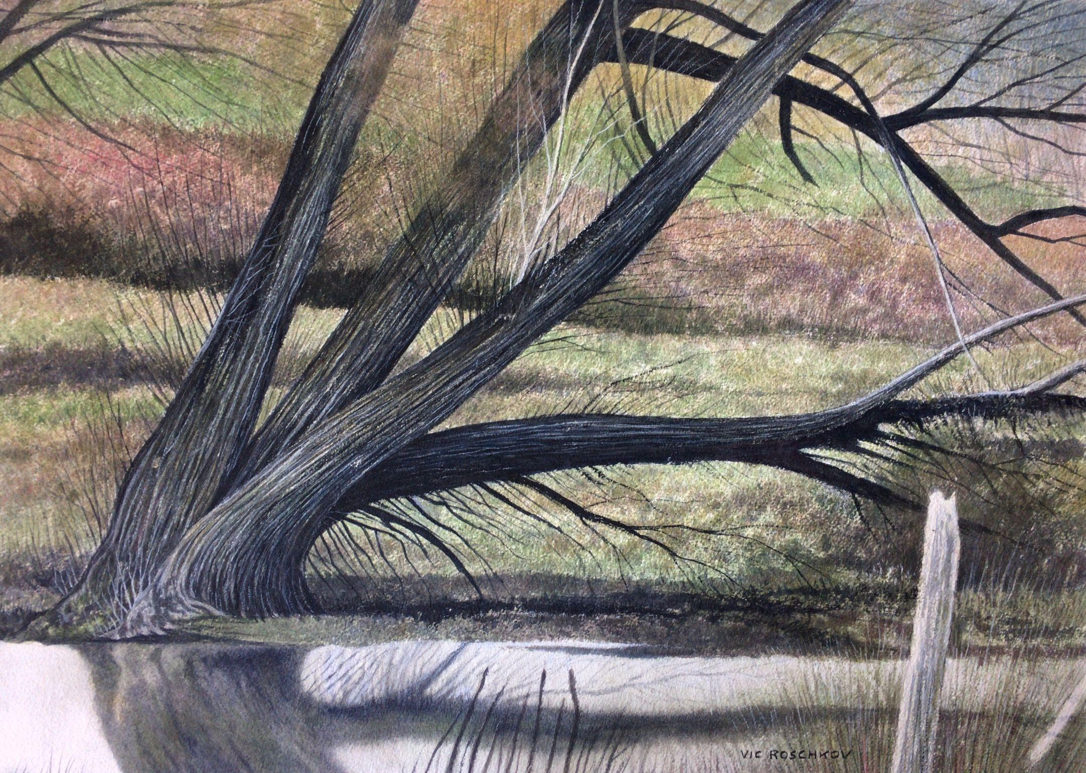 Waters Edge, Painting, Watercolor on Watercolor Paper