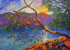 Island View Arbutus, Painting, Oil on Canvas