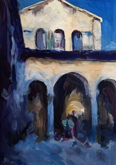 Cathedral Blue, Painting, Oil on Wood Panel