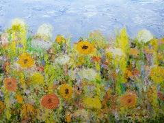 Dandelion Dust, Painting, Acrylic on Canvas