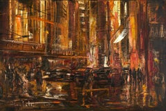 Busy hours. Toronto., Painting, Oil on Canvas