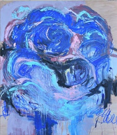 THE ROSE # II, Painting, Oil on Wood Panel