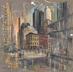 NYC street, Painting, Oil on Canvas
