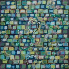 The Jellyfish Race III, Mixed Media on Canvas