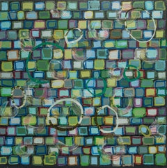 The Jellyfish Race I, Mixed Media on Canvas