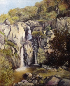 Waterfall of Cicutina, Painting, Oil on Canvas