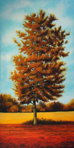 Late Summer Tree, Painting, Acrylic on Canvas