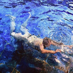 Into the Blue, Painting, Acrylic on Canvas