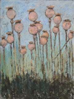 Poppy Seed Heads, Painting, Oil on Canvas
