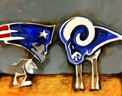 Super Bowl LIII, Drawing, Pen & Ink on Paper