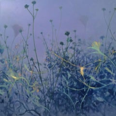Periwinkle Garden, Painting, Oil on Canvas