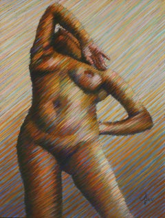 Nude – 02-02-19, Drawing, Pastels on Pastel Sandpaper