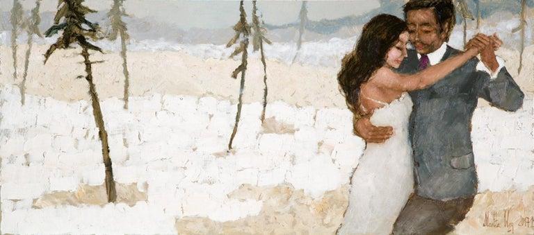 Martta Węg Figurative Painting - Tango in Beskidy - XXI century, Oil figurative painting, Colourful, Landscape