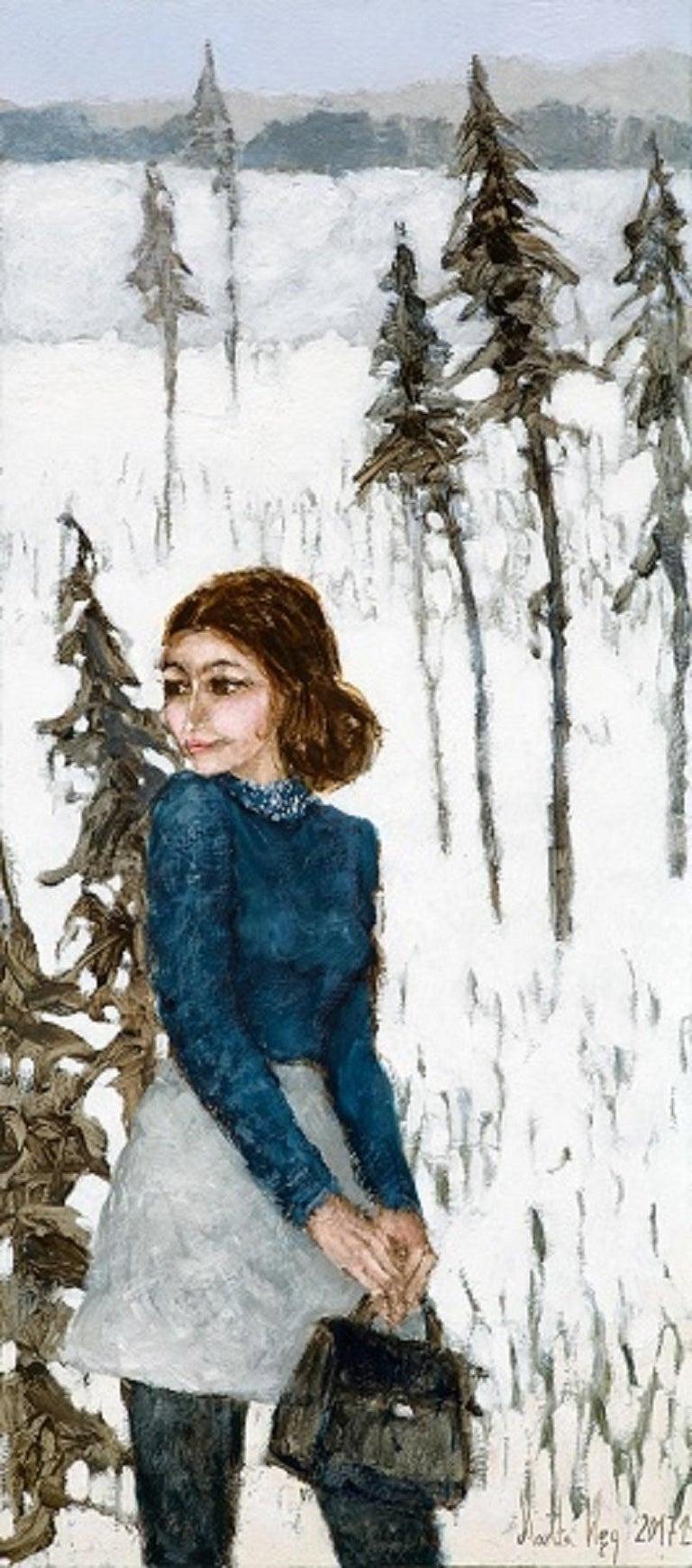 Martta Węg Figurative Painting - Trip to Beskidy II - XXI century, Oil figurative painting, Colourful, Landscape