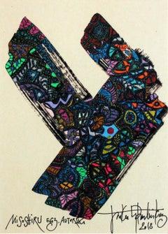 Misoshiru - XXI century, Mixed media, Abstract print