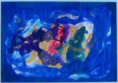 Blue day - XXI century, Mixed media, Abstract print