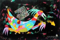 Patron - XXI century, Mixed media, Abstract print