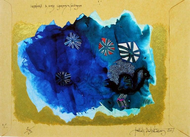 Wandering around the Red Sea - XXI century, Mixed media, Abstract print 1