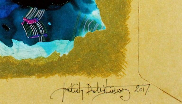 Wandering around the Red Sea - XXI century, Mixed media, Abstract print 3