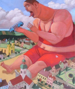 Gulliver - XX century, Figurative painting, Bright colours