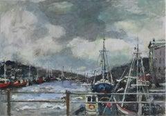 Port - XXI century, Oil on canvas, Figurative, Landscape