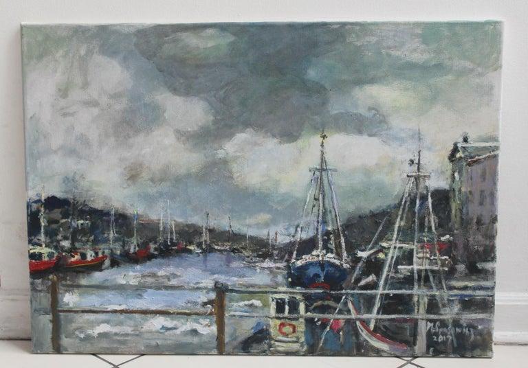 Port - XXI century, Oil on canvas, Figurative, Landscape 2