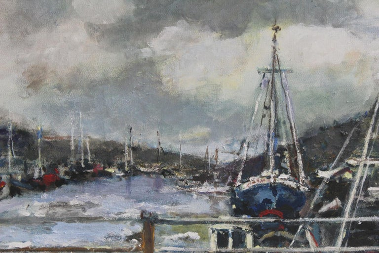 Port - XXI century, Oil on canvas, Figurative, Landscape 3
