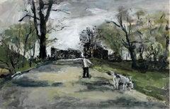 By the Bzura River - XXI century, Oil on canvas, Figurative, Landscape